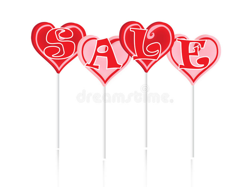 Sale Text With Sweet Lollipops Stock Images