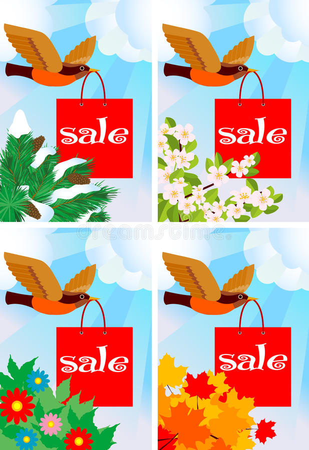 Download Sale theme stock vector. Image of beak, flying, concepts - 9507063