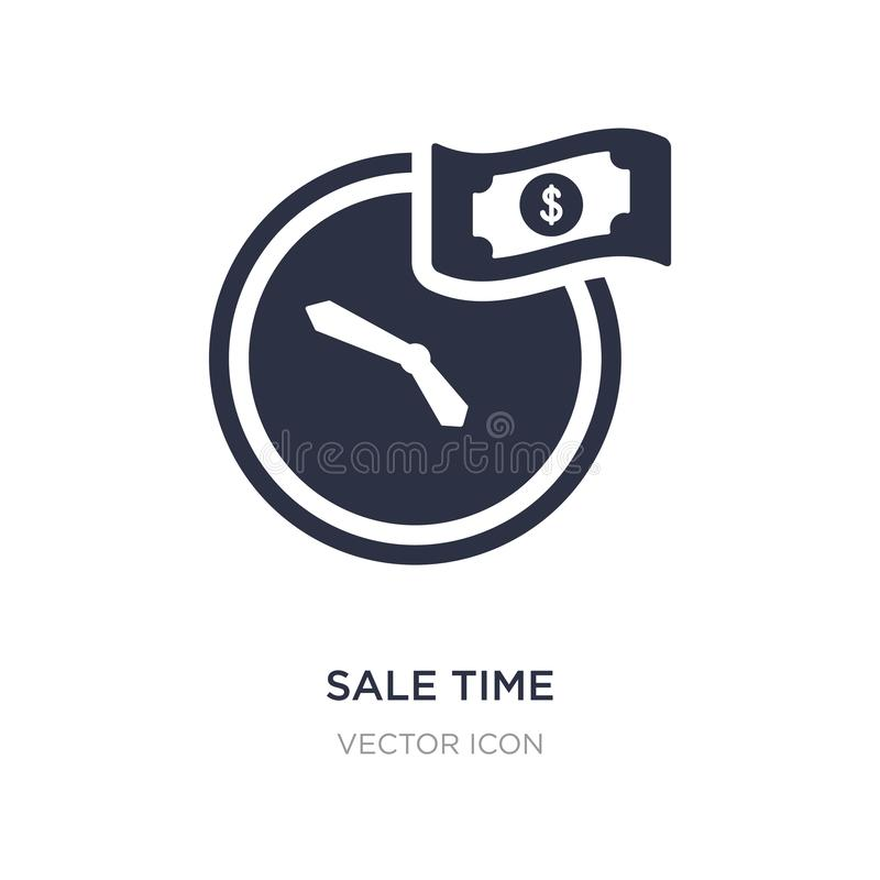Sale time icon on white background. Simple element illustration from UI concept. Sale time sign icon symbol design royalty free illustration