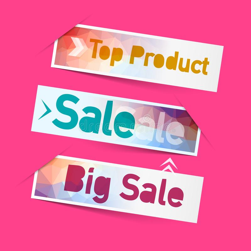 Sale, Top Product Labels. Icons. vector illustration