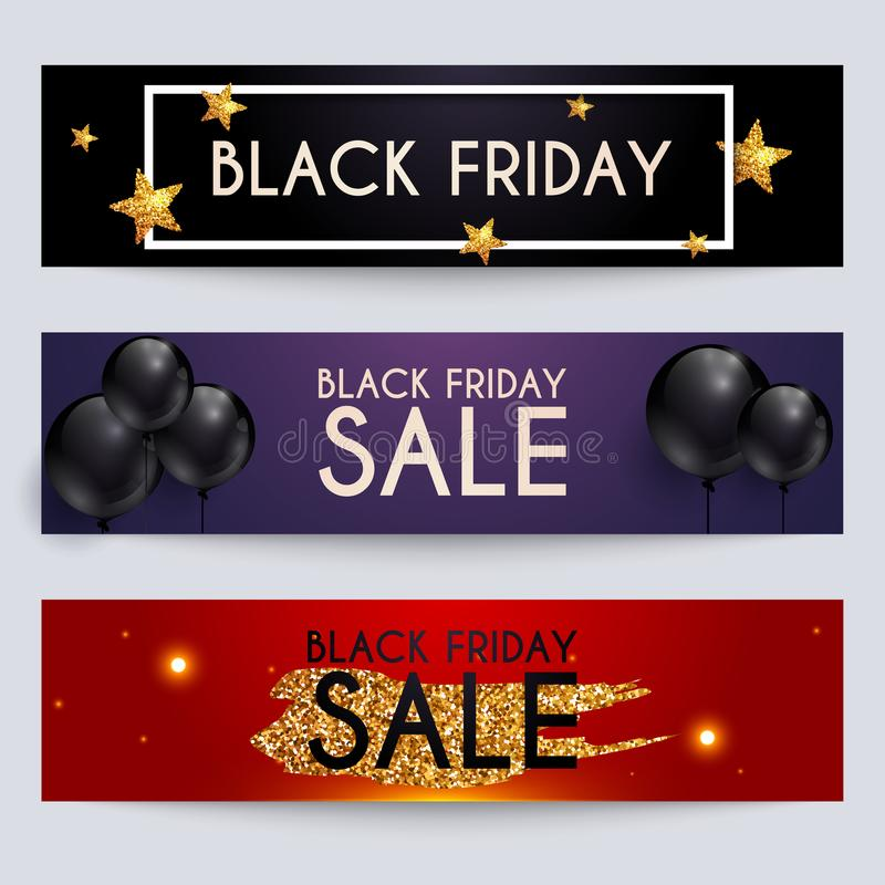 Sale website banners web template collection. Can be used for mo stock illustration