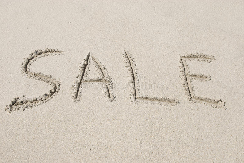 Download Sale Written in Sand stock image. Image of handwriting - 13540443
