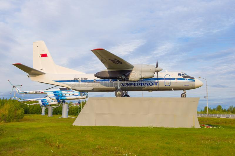 An-26 airplane in the commemorative exposition royalty free stock photography