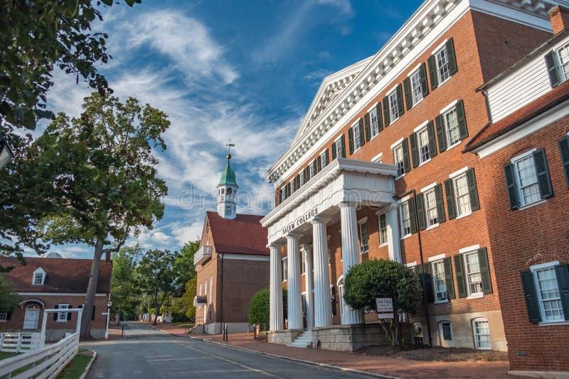 Salem College anziano fotografia stock