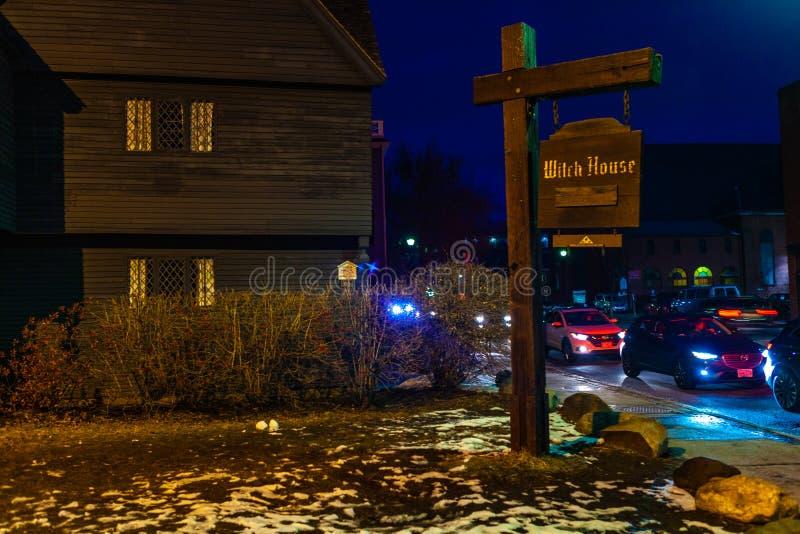 Salem, Etats-Unis 3 mars 2019 : Johnathan Corbin House historique connu sous le nom de Chambre de sorcière en raison de sa connex images stock