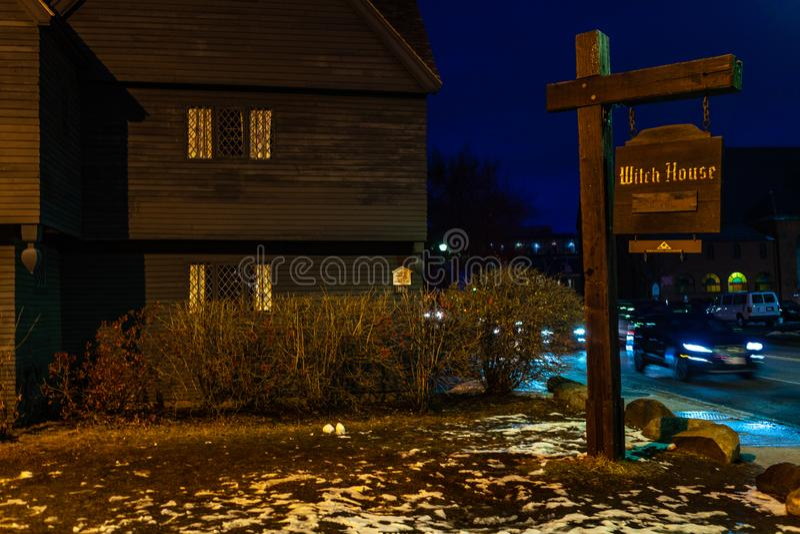 Salem, Etats-Unis 3 mars 2019 : Johnathan Corbin House historique connu sous le nom de Chambre de sorcière en raison de sa connex photo libre de droits