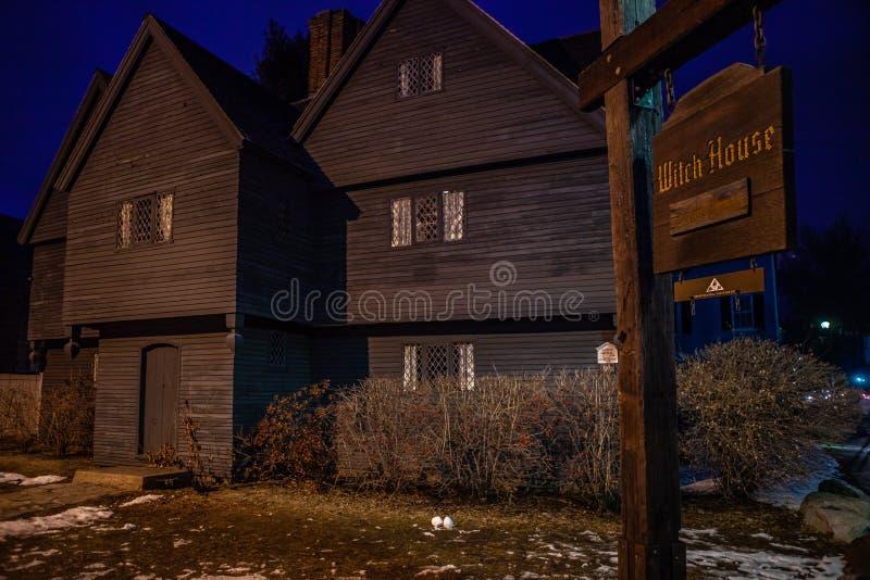 Salem, Etats-Unis 3 mars 2019 : Johnathan Corbin House historique connu sous le nom de Chambre de sorcière en raison de sa connex image libre de droits
