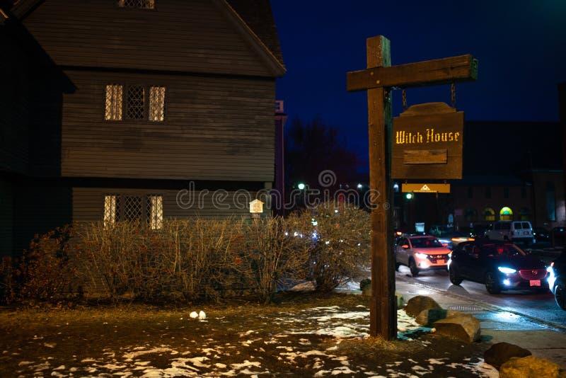 Salem, Etats-Unis 3 mars 2019 : Johnathan Corbin House historique connu sous le nom de Chambre de sorcière en raison de sa connex images libres de droits