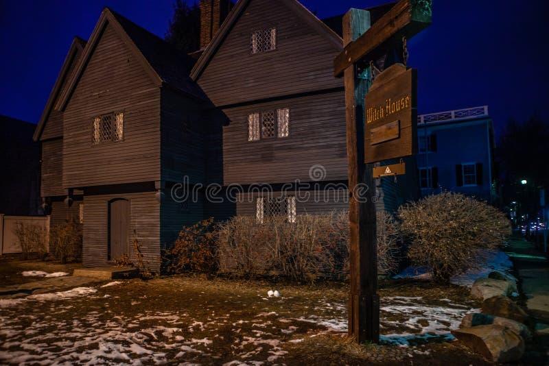 Salem, Etats-Unis 3 mars 2019 : Johnathan Corbin House historique connu sous le nom de Chambre de sorcière en raison de sa connex photos stock