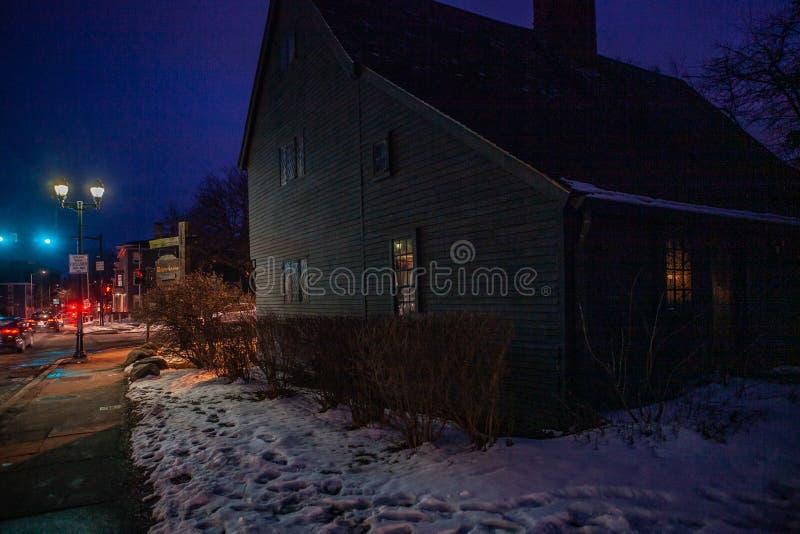 Salem, Etats-Unis 3 mars 2019 : Johnathan Corbin House historique connu sous le nom de Chambre de sorcière en raison de sa connex photo stock