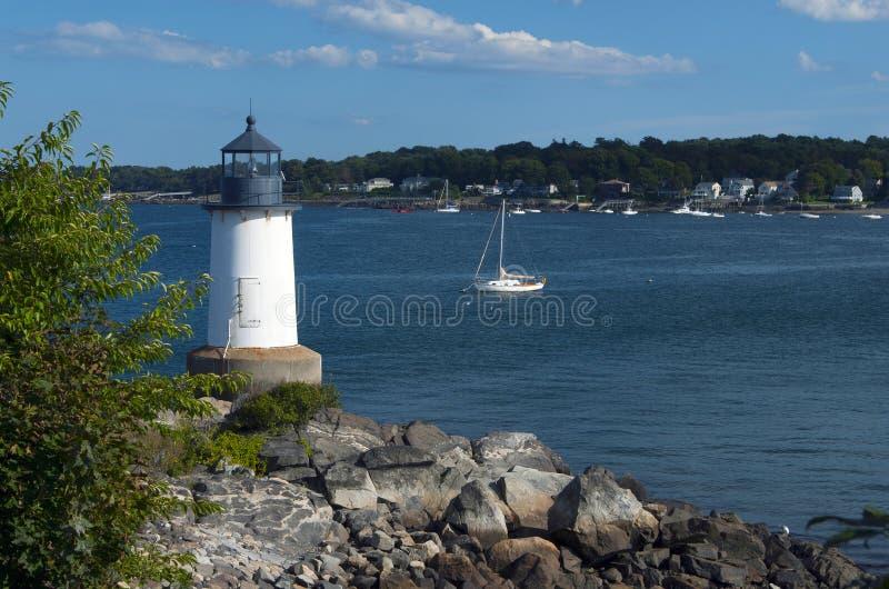 Salem Harbor Lighthouse a Pickering forte fotografia stock libera da diritti