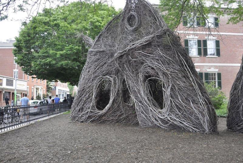 Salem, MA, am 1. Juni: Kehren Sie Skulptur von Salem in Essex County Massachusettes Staat von USA lizenzfreie stockfotos