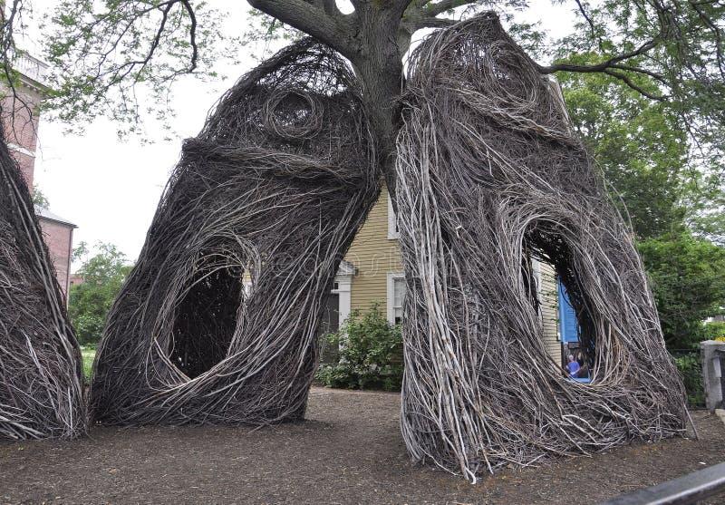 Salem, MA, am 1. Juni: Kehren Sie Skulptur von Salem in Essex County Massachusettes Staat von USA stockfoto