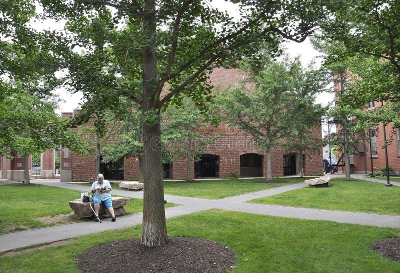 Salem, MA, 1st Czerwiec: Kadetów Corp budynek od śródmieścia Salem w Essex okręgu administracyjnego Massachusettes stanie usa zdjęcie royalty free