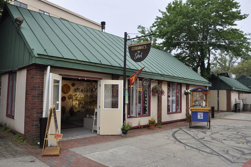 Salem, MA, 1st June: Ceramic Shop building from Salem in Essex county Massachusettes state of USA royalty free stock photography
