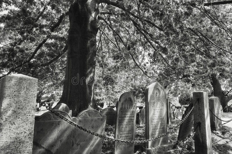 Salem Massachusetts Burying Point Cemetery royalty free stock photography
