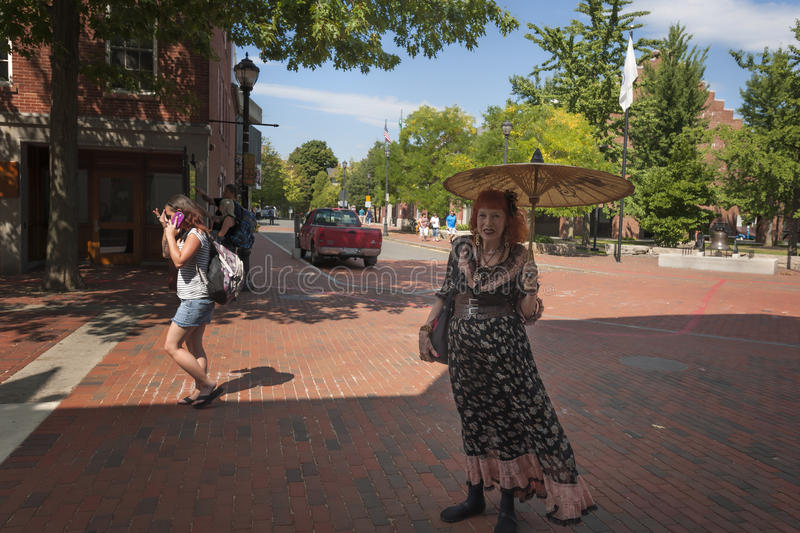 Salem Massachusetts Business Woman Poses for Camera royalty free stock images