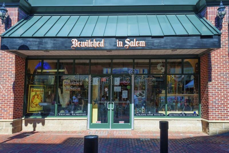 Salem Massachusetts krimskrams shoppar fotografering för bildbyråer