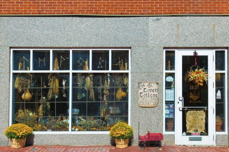 Salem Massachusetts krimskrams shoppar royaltyfri fotografi