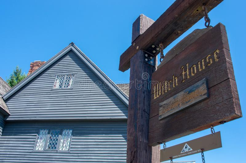The Witch House in Salem,Massachusetts, USA royalty free stock photography
