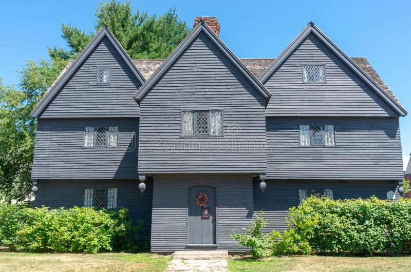 The Witch House In Salem,Massachusetts, USA Stock Image ...