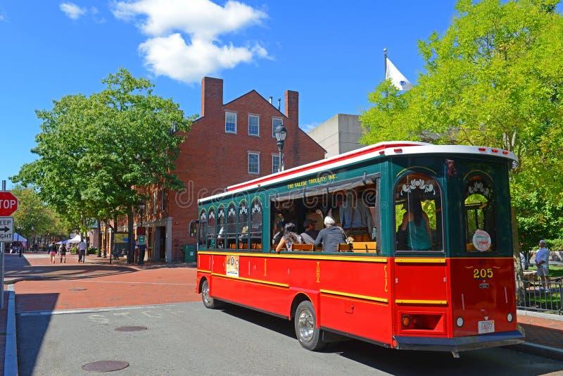 Salem Trolley i Salem, MOR, USA arkivfoton