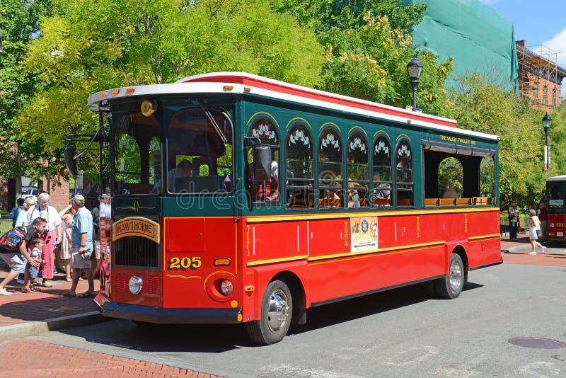 Salem Trolley i Salem, MOR, USA royaltyfri fotografi