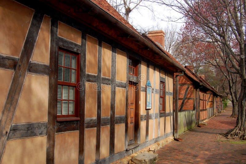 Salem vieja, NC: Edificios históricos de Moravian imagenes de archivo