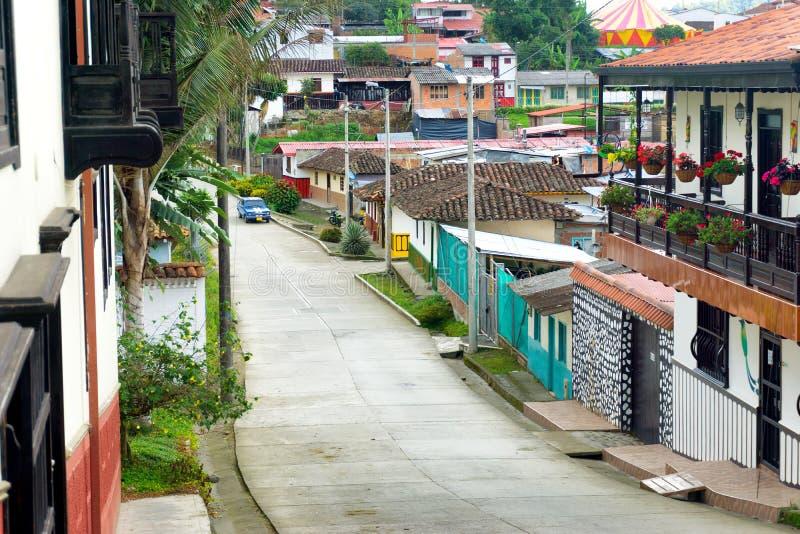 Salento Colombia sikt arkivfoton