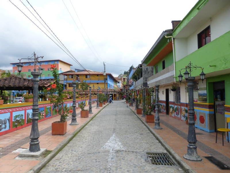 Salento recolhido, Colômbia enquanto visitando o vale de Cocora foto de stock royalty free