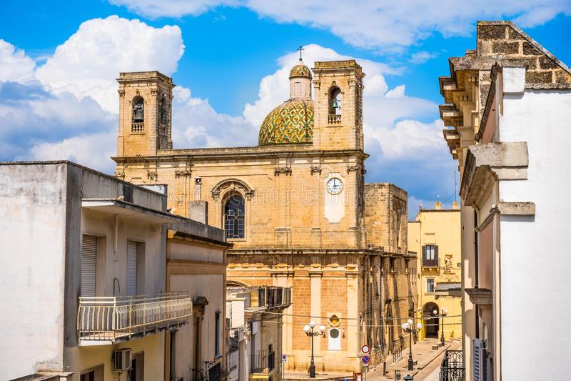 Salento Taurisano church Transfigurazion Lecce Apulia Italy stock images