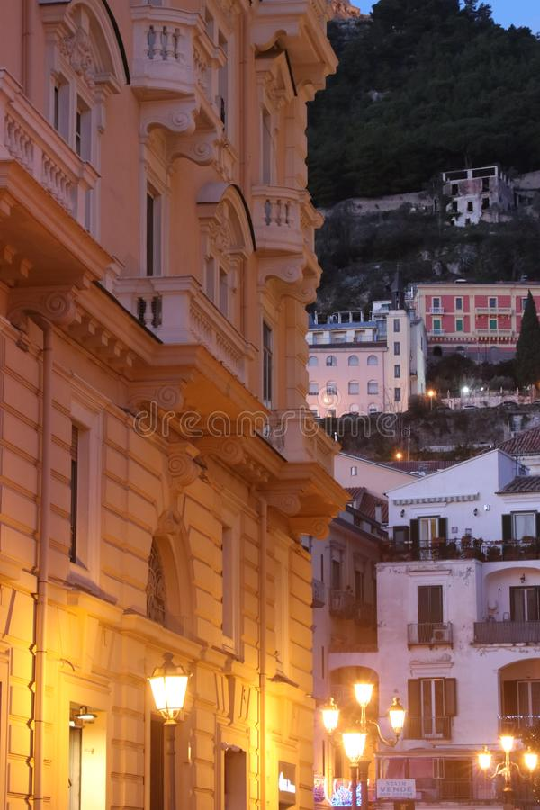 Salerno, a seaside town in Italy royalty free stock images