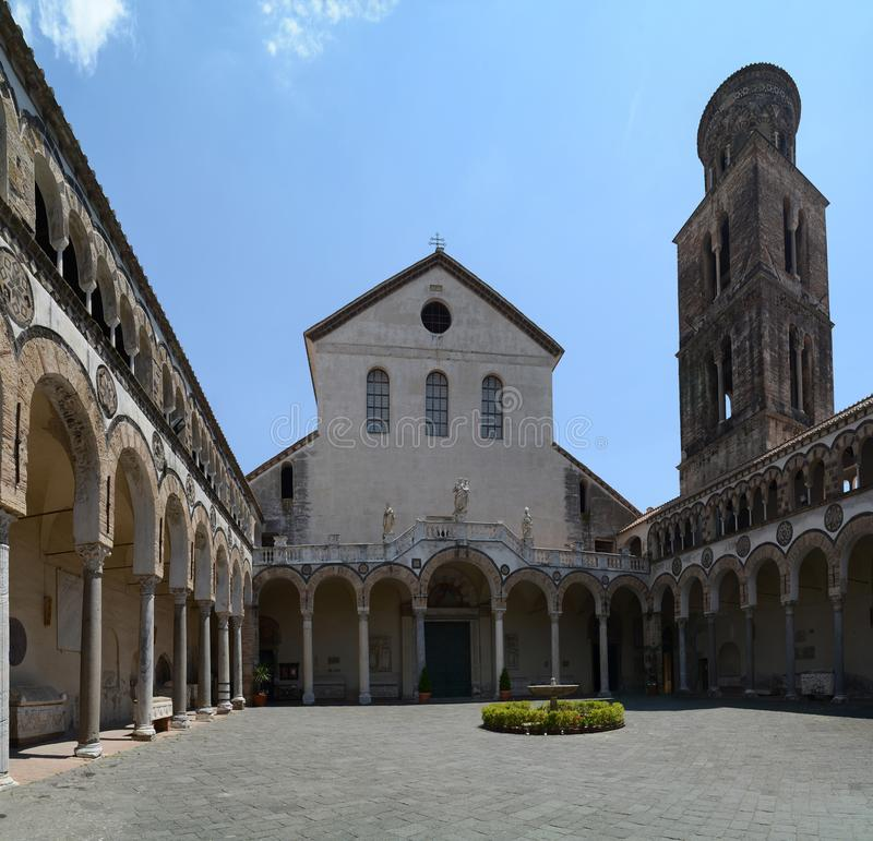 Salerno-Kathedrale, Italien stockbilder