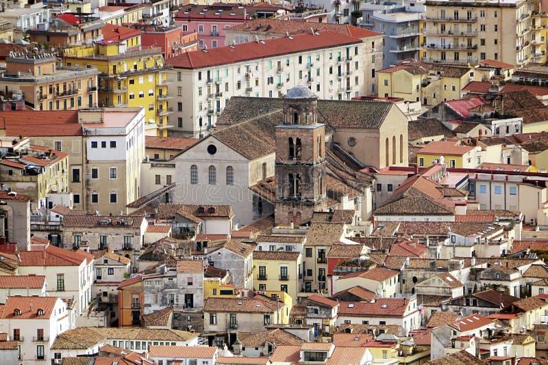 Salerno-Kathedralendach stockbild