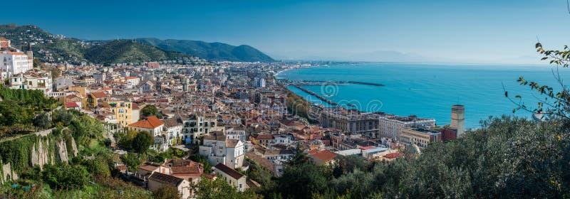Salerno kust Italien arkivbilder