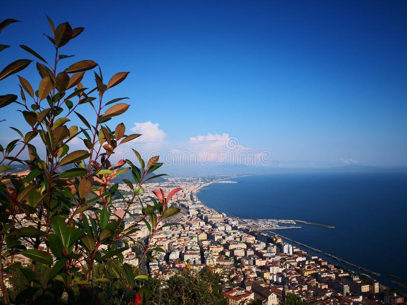 Salerno panorama royaltyfria foton