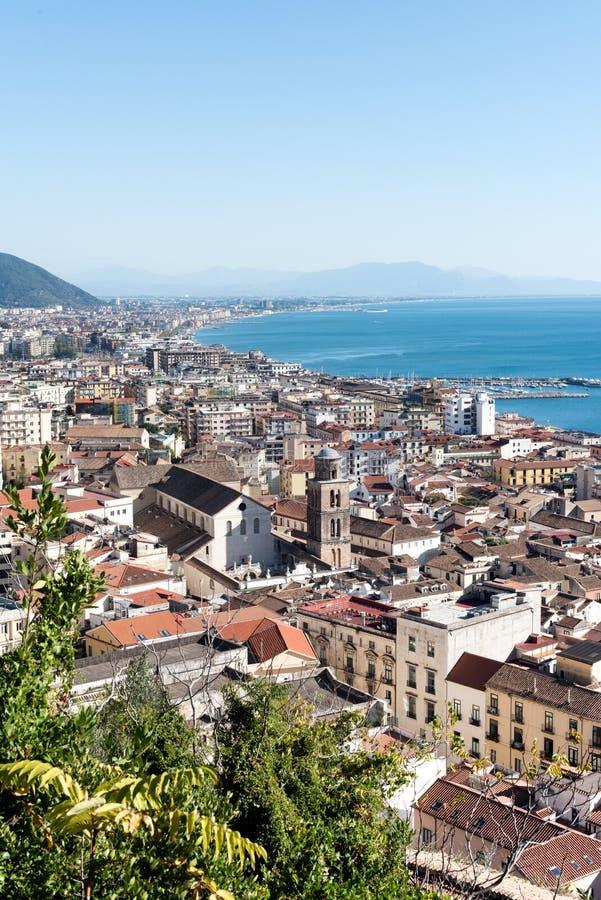 Salerno panorama - Italia arkivfoton