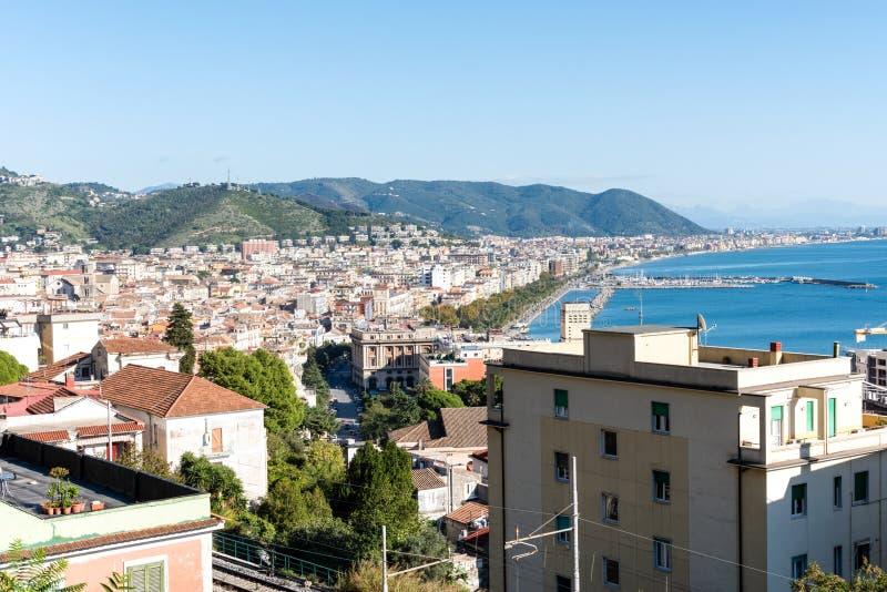 Salerno panorama - Italia royaltyfri fotografi