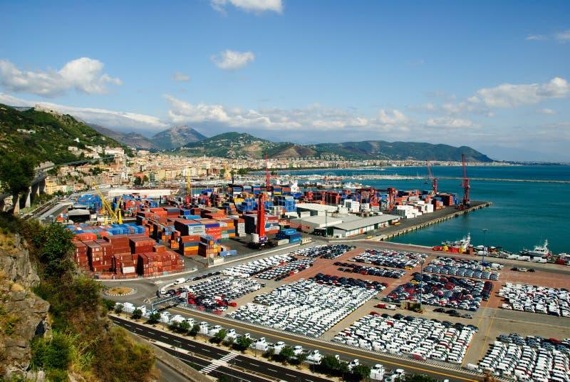 Salerno portuario imágenes de archivo libres de regalías