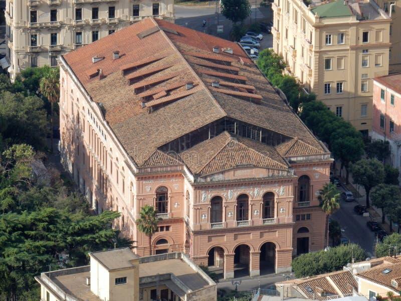Salerno - Teatro municipale Verdi royalty-vrije stock foto's