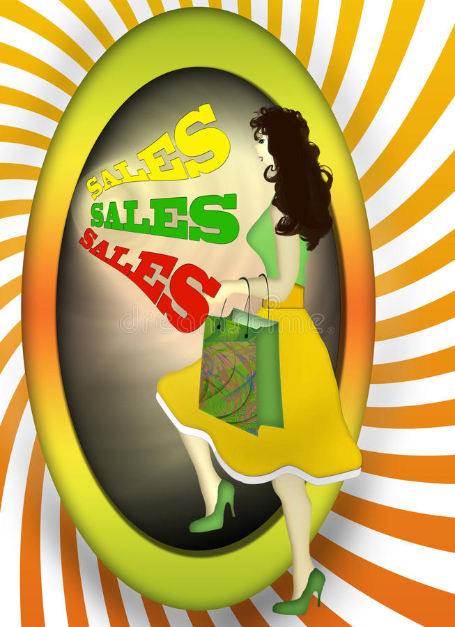 Download Sales alluring stock illustration. Illustration of shopping - 14858289
