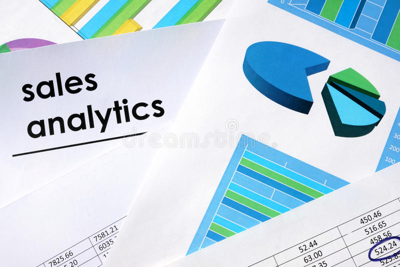 Sales analytics concept. royalty free stock photo