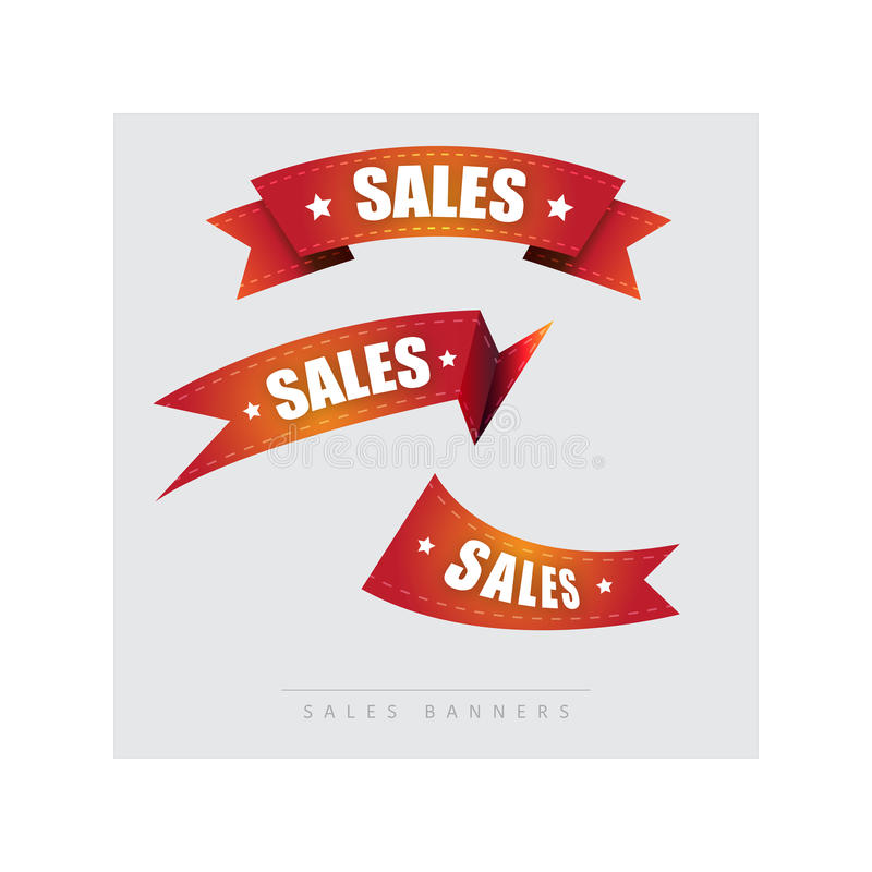 Sales, consumer banners. Illustration royalty free stock photography