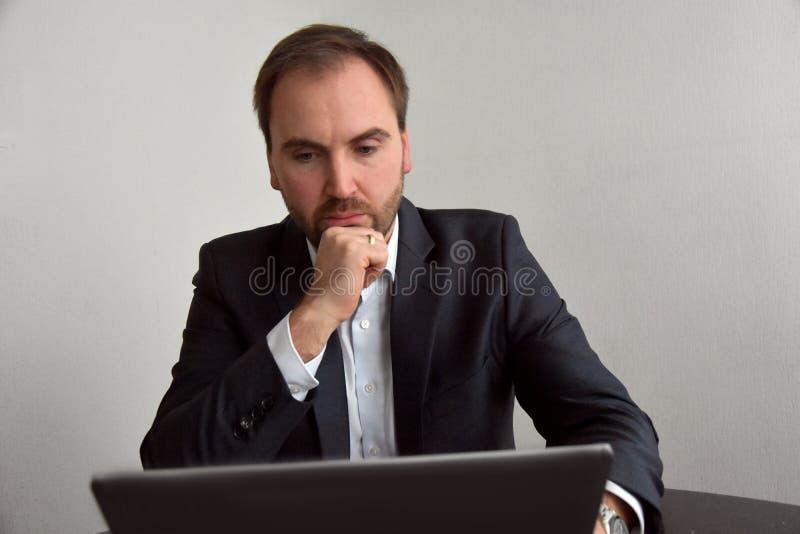 Sales conversation. Young businessman in sales conversation stock images