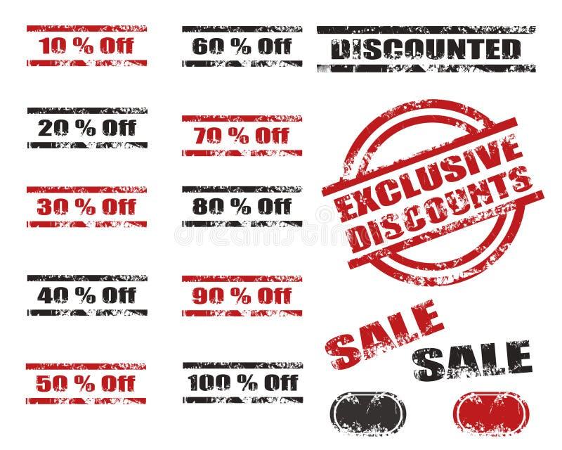 Download Sales Discounts Grunge Stamp Set Stock Illustration - Image: 25883067