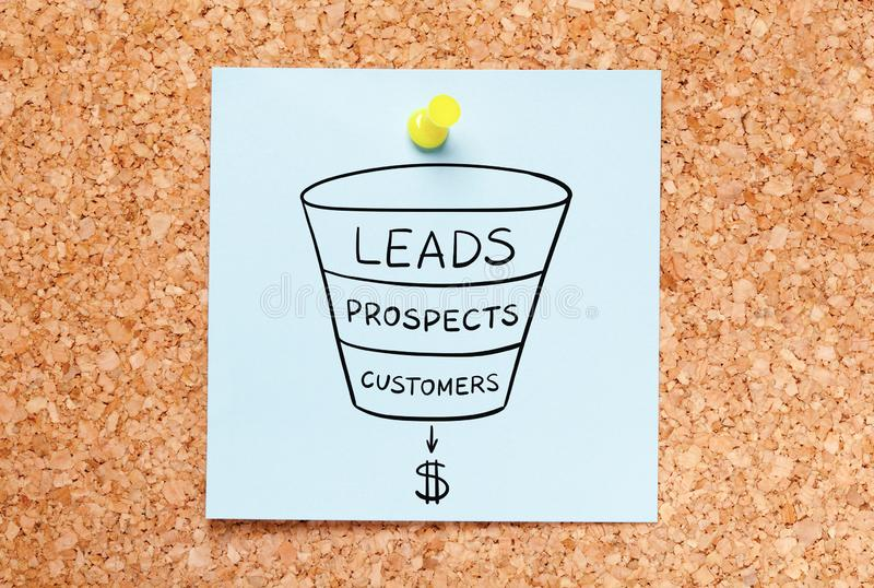 Sales Funnel Leads Generation Business Concept royalty free stock photography