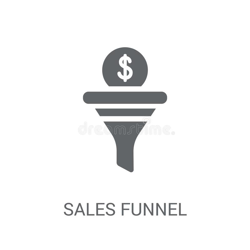 Sales Funnel icon. Trendy Sales Funnel logo concept on white background from Technology collection. Suitable for use on web apps, mobile apps and print media vector illustration