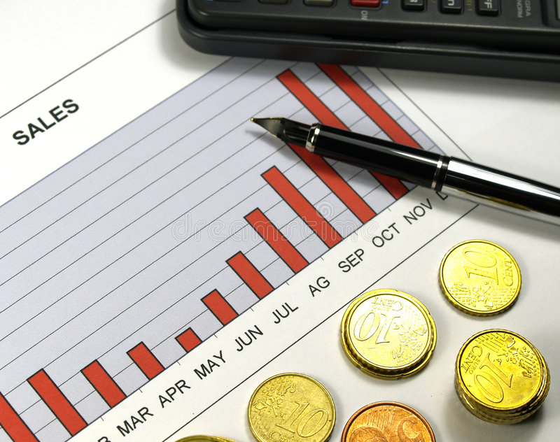 Download Sales graph stock photo. Image of dollar, success, graph - 822520