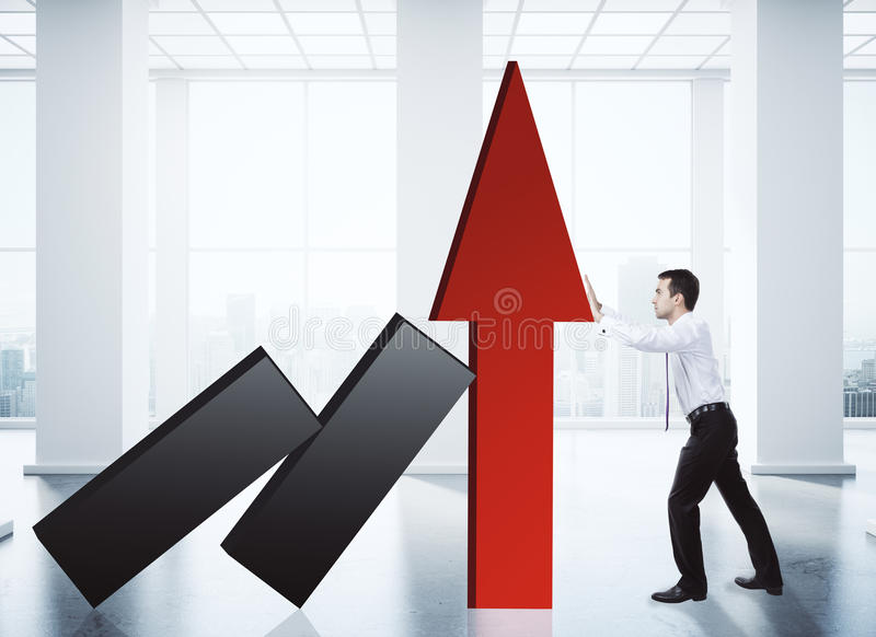 Sales growth concept stock images