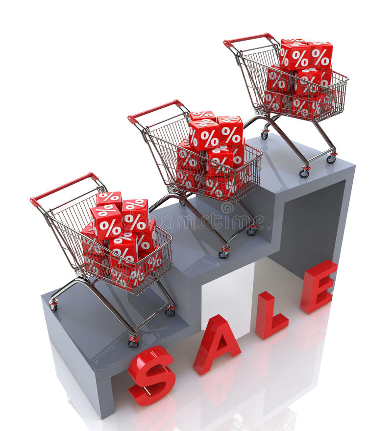 Sales growth at a discount stock photos